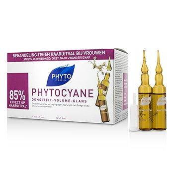 Phyto Phytocyane Growth Stimulating Anti-Thinning Hair Treatment (For Thinning Hair - Women)  12x7.5ml/0.25oz