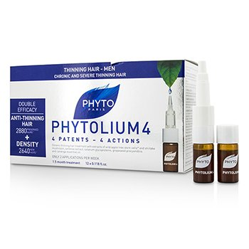 Phytolium 4 Chronic and Severe Anti-Thinning Hair Concentrate (For Thinning Hair - Men)  12x3.5ml/0.118o