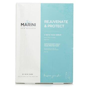 Jan Marini Rejuvenate & Protect Set: Marini Physical Protection 57g + C-Esta Serum 30ml  2pcs