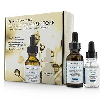 Skin Ceuticals Gold Standard Restore Set: C E  Tratamiento Ferúlico 30ml/1oz + Gel Hidratante B5 15ml/0.5oz  2pcs