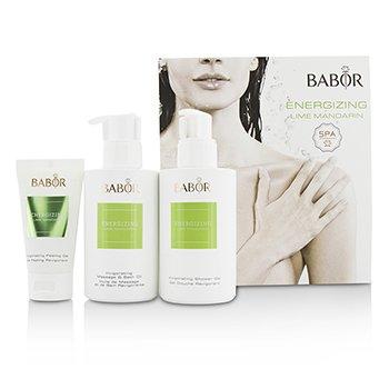Babor SPA Energizing Lime Mandarin Coffret: Shower Gel 200ml + Massage & Bath Oil 200ml + Peeling Gel 50ml  3pcs