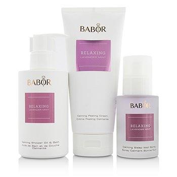 SPA Relaxing Lavender Mint Coffret: Shower Oil & Bath 200ml + Peeling Cream 200ml + Sleep Well Spray 50ml  3pcs