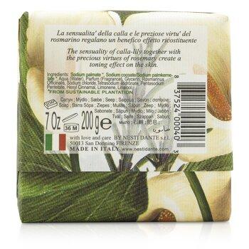 Gli Officinali Soap - Calla-Lily & Rosemary - Velveting & Tonic  200g/7oz