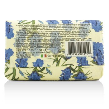 Lavanda Natural Soap - Blu Del Mediterraneo - Relaxing  150g/5.29oz