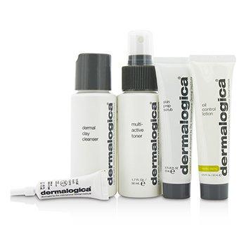 Oily Skin Kit: Cleanser 50ml + Toner 50ml + Lotion  22ml + Scrub 22ml + Total Eye Care 4ml  5pcs