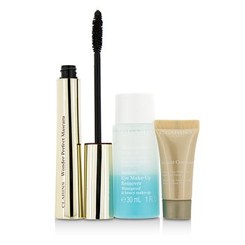 Clarins Eye Opening Beauty Set: 1x Wonder Perfect M�scara, 1x Mini Demaquillante Ojos, 1x Mini Corrector Instant�neo  3pcs