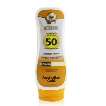 Australian Gold โลชั่นกันแดด Lotion Sunscreen Broad Spectrum SPF 50  237ml/8oz