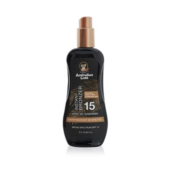 Spray Gel Sunscreen Broad Spectrum SPF 15 with Instant Bronzer  237ml/8oz