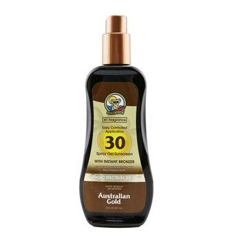 Spray Gel Sunscreen Broad Spectrum SPF 30 with Instant Bronzer  237ml/8oz
