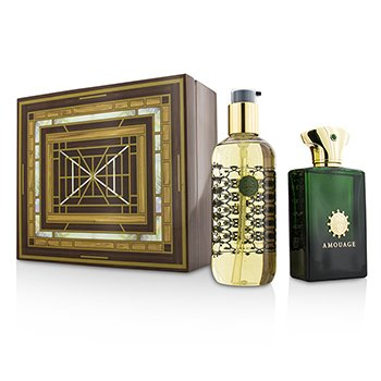 Amouage Epic Coffret: Eau De Parfum Spray 100ml/3.4oz + Gel de Ducha & Baño 300ml/10oz  2pcs