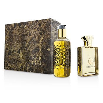 Amouage Gold Set: Apă de Parfum Spray 100ml/3.4oz + Gel de Baie și Duș 300ml/10oz  2pcs