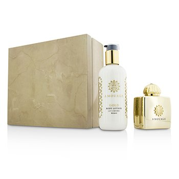 Amouage Gold szett: Eau De Parfüm spray 100ml/3.4oz + testápoló lotion 300ml/10oz  2pcs