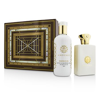Amouage Honour Set: Apă de Parfum Spray 100ml/3.4oz + Gel de Baie și Duș 300ml/10oz  2pcs