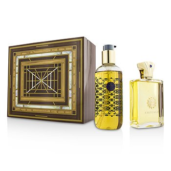 Amouage Jubilation XXV Set: Apă de Parfum Spray 100ml/3.4oz + Gel de Baie și Duș 300ml/10oz  2pcs