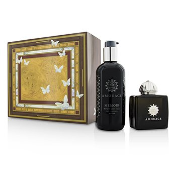 Amouage Memoir Coffret: Eau De Parfum Spray 100ml/3.4oz+ Body Lotion 300ml/10oz  2pcs