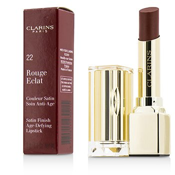 Clarins Rouge Eclat Satin Finish Age Defying Lipstick - # 22 Red Paprika  3g/0.1oz