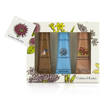 クラブツリー&イヴリン Ultra-Moisturising Hand Therapy Set: Gardeners 50g + La Source 50g + Pomegranate, Argan & Grapeseed 50g  3pcs