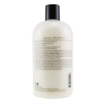 Fresh Cream Shampoo, Shower Gel & Bubble Bath  480ml/16oz