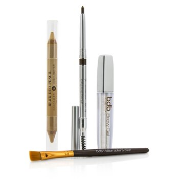 Best Sellers Kit: 1x Universal Brow Pencil 0.27g/0.009oz, 1x Brow Duo Pencil 2.98g/0.1oz, 1x Smudge Brush, 1x Brow Gel 3ml/0.1oz  4pcs