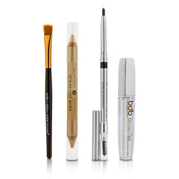 ビリオン ダラー ブロー Best Sellers Kit: 1x Universal Brow Pencil 0.27g/0.009oz, 1x Brow Duo Pencil 2.98g/0.1oz, 1x Smudge Brush, 1x Brow Gel 3ml/0.1oz  4pcs
