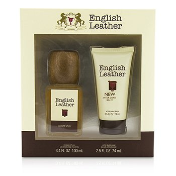 Dana English Leather Coffret: Cologne Splash 100ml/3.4oz + B�lsamo para Despu�s de Afeitar 74ml/2.5oz  2pcs