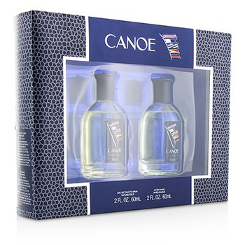 Dana Canoe Coffret: Eau De Toilette Spray 60ml/2oz + Después de Afeitar 60ml/2oz  2pcs