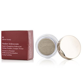 Clarins Cień do powiek Ombre Iridescente Cream To Powder Iridescent Eyeshadow - #04 Silver Ivory  7g/0.2oz