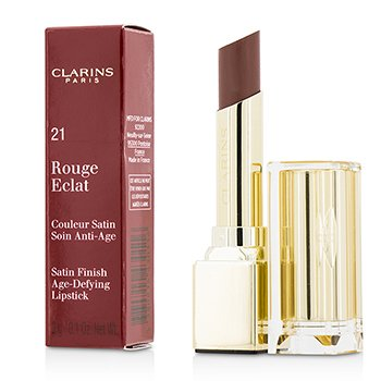 Clarins Rouge Eclat Satin Finish Age Defying Lipstick - # 21 Tawny Rose  3g/0.1oz