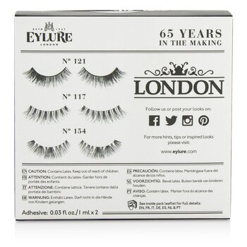 The London Edit False Lashes Multipack  3pairs