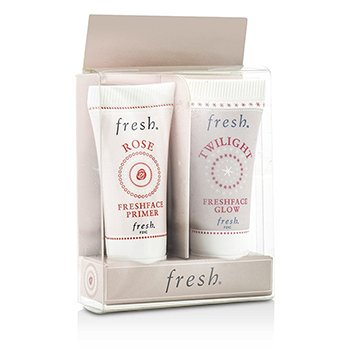 Fresh Set Prime & Glow: 1x Mini Rose FreshPrimer Facial, 1x Mini Twilight Freshface Brillo  2x5ml/0.17oz