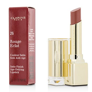Clarins Pomadka do ust Rouge Eclat Satin Finish Age Defying Lipstick - # 26 Rose Praline  3g/0.1oz