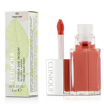 Clinique Pop Lacquer Lip Colour + Primer  - # 03 Happy Pop  6ml/0.2oz