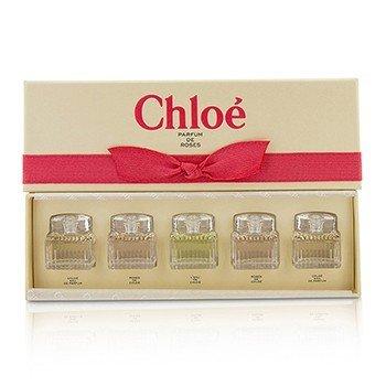Chloe Minature Coffret: 2x Chloe + 2x Roses De Chloe + L'Eau De Chloe  5x5ml/0.17oz