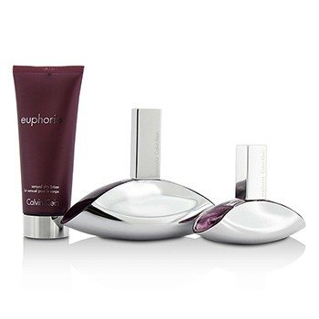Euphoria Coffret: Eau De Parfum Spray 100ml/3.4oz + Eau De Parfum Spray 30ml/1oz + Sensual Skin Lotion 100ml/3.4oz  3pcs