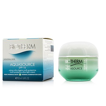Biotherm Krem do twarzy z filtrem UV Aquasource Multi-Protective Ultra-Light Cream SPF 15 - For Normal/Combination Skin  50ml/1.69oz