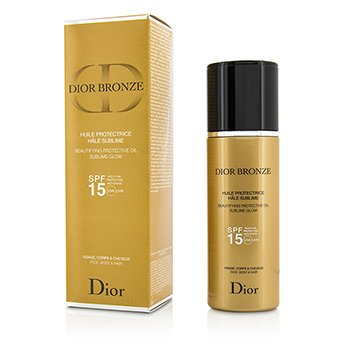 Christian Dior Dior Bronze Beautifying Protective Oil Sublime Glow SPF 15 - Para Rostro, Cuerpo & Cabello  125ml/4.2oz