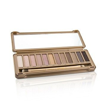 Naked 3 Eyeshadow Palette: 12x Eyeshadow, 1x Doubled Ended Shadow Blending Brush  -