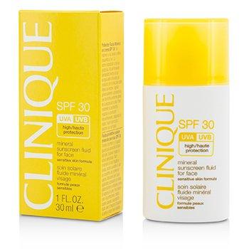 Mineral Sunscreen Fluid For Face SPF 30 - Sensitive Skin Formula  30ml/1oz