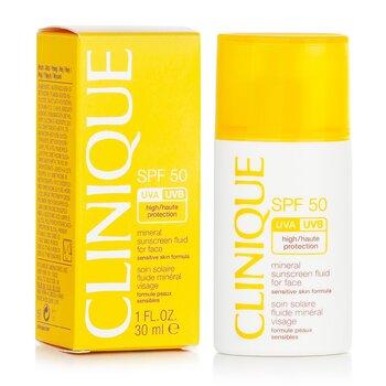 Mineral Sunscreen Fluid For Face SPF 50 - Sensitive Skin Formula 30ml/1oz