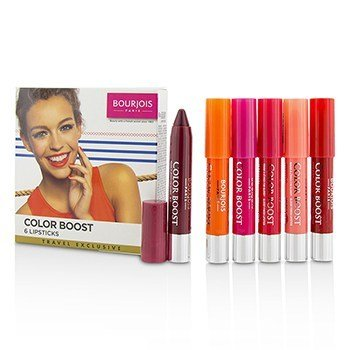 Bourjois Colorboost Glossy Finish Lipstick Set  6pcs
