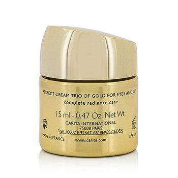 Progressif Anti-Age Global Perfect Cream Trio Of Gold For Eyes & Lips  15ml/0.47oz