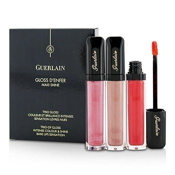 Guerlain Gloss D'enfer Maxi Shine Intense Colour & Shine Lip Gloss Trio: 3x Lip Gloss (# 463 La Petite Robe Noire , # 464 Guimauve Vlop, # 468 Candy Strip)  3x7.5ml/0.25oz