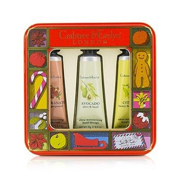Crabtree & Evelyn Zestaw kremów do rąk Fruit And Botanicals Hand Therapy Tin Set  3x25g/0.9oz