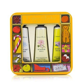 Crabtree & Evelyn Zestaw kremów do rąk Countryside Florals Hand Therapy Tin Set  3x25g/0.9oz