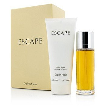 Calvin Klein Zestaw Escape Coffret: Eau De Parfum Spray 100ml/3.4oz + Body Lotion 200ml/6.7oz  2pcs
