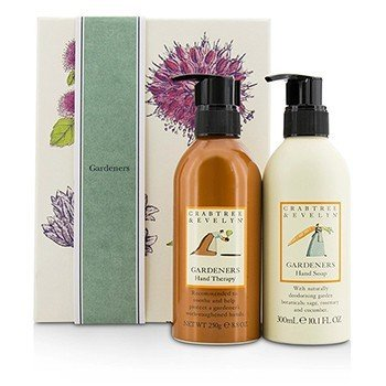 Crabtree & Evelyn Gardeners Hand Care Duo: Hand Soap 300ml/10.1oz + Hand Therapy 250g/8.8oz  2pcs