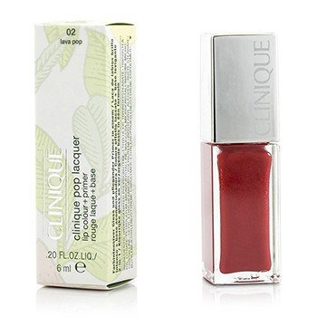 Clinique Pop Lacquer Lip Colour + Primer  - # 02 Lava Pop  6ml/0.2oz