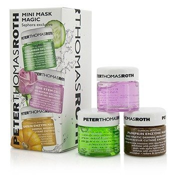 Peter Thomas Roth Mini Mask Magic Kit: Cucumber Gel Mask 15ml + Rose Gel Mask 15ml + Pumpkin Enzyme Mask 15ml  3pcs