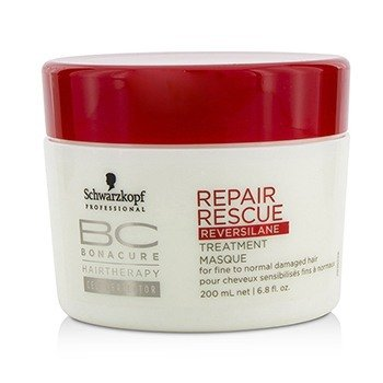 Schwarzkopf BC Repair Rescue Reversilane Treatment Masque (For Fine to Normal Damaged Hair)  200ml/6.8oz