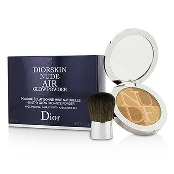 Christian Dior Diorskin Nude Air Polvo Resplando Brillo Saludable (Con Brocha Kabuki) - # 001 Fresh Tan  10g/0.35oz